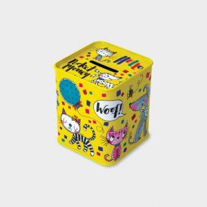 Rachel Ellen Money Box Tin- Cats And Dogs