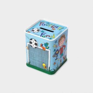 Rachel Ellen Money Box Tin- Football
