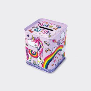 Rachel Ellen Money Box Tin- Make A Wish