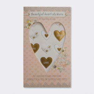 Rachel Ellen Luxury Wedding Heart Stickers x30