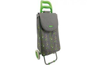 2 Wheel Shopping Trolley Natural Leaf