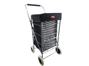 4 Wheel Shopping Trolley Dogtooth 65L
