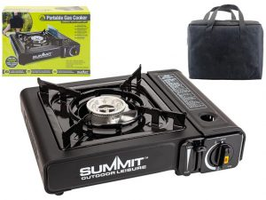 Summit Portable Gas Stove With Carry Bag
