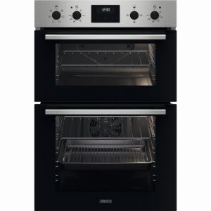 Zanussi ZKCXL3X1 56cm Built In Electric Double Oven – Stainless