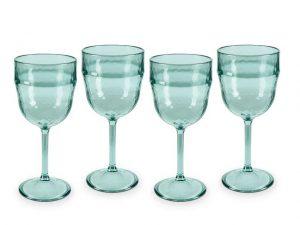 Tower Reusable Wine Glass x 4