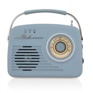 Akai A60014VB AM/FM Vintage Radio – Blue