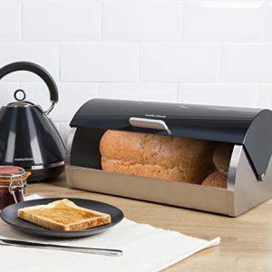 Morphy Richards Accents Roll Top Bread Bin  Black