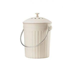 Eddintons Bamboo Fibre Compost Pail 4.5L Cream