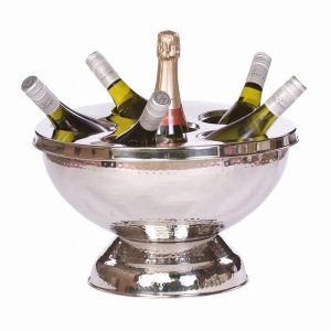 Hammered Stainless Steel Drinks Pail