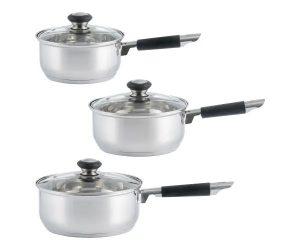 Viners Everyday 3 Pce Saucepan Set