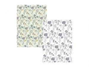 Tea Towels Pressed Flower x 2