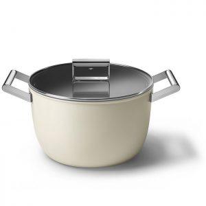 smeg 50's style cookware casserole ckfc2611crm