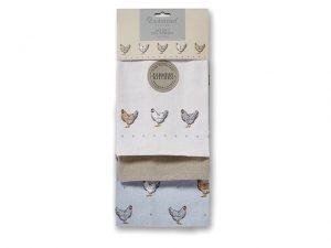 Cooksmart Tea Towels Farmers Kitchen Set Of Three