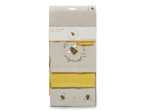 Cooksmart Tea Towels Bumble Bees Pack Of Three
