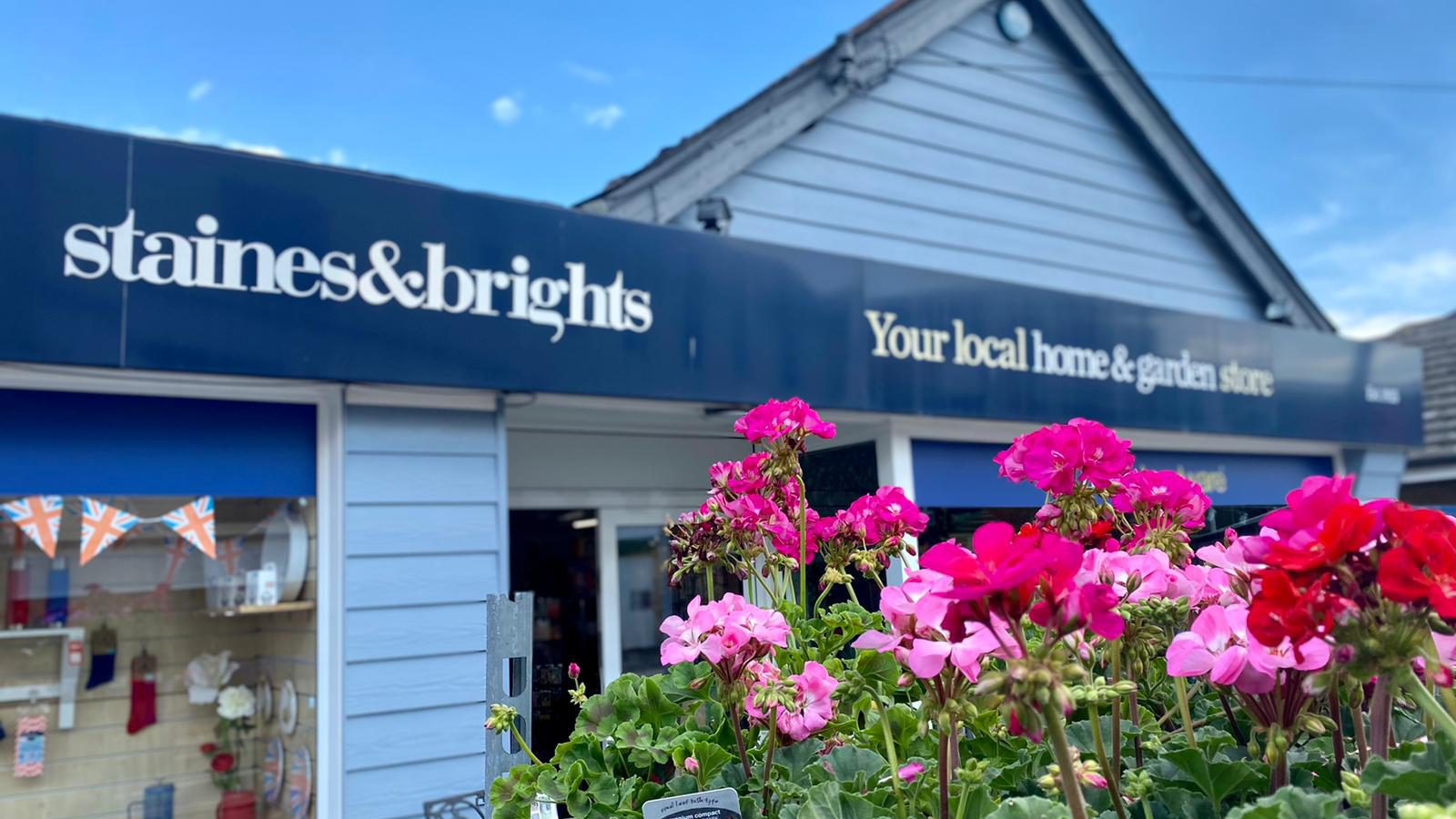 staines and brights shop front