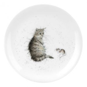 Wrendale Coupe Plate Cat And Mouse 8Inch