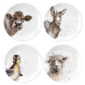 Wrendale Coupe Plates Set Of Four