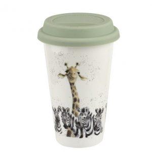 Wrendale Travel Mug Giraffe And Zebra