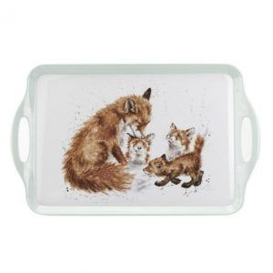 Wrendale Handled Tray Foxes