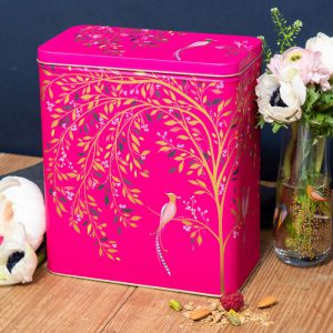 Sara Miller Larder Tin Pink Birds