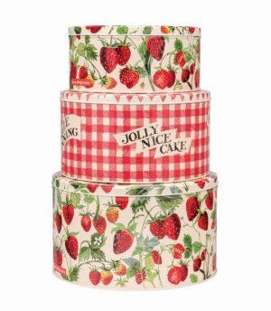 Emma Bridgewater Round Cake Tin Large Strawberry