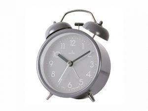 Acctim Askel Double Bell Clock Aston Grey