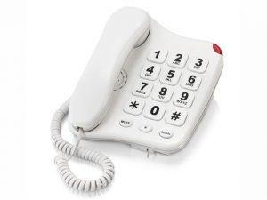 Binatone Big Button Corded Phone White