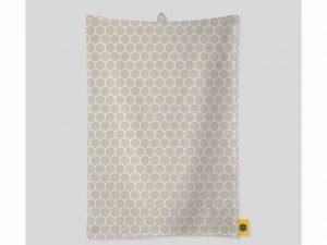 KitchenPantry Tea Towel Yellow Honeycomb & Storm
