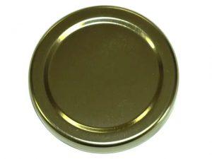 Freeman Spare Lids 82mm For 2lb Jam Jar Gold x 20