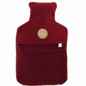 Hot Water Bottle red knnit & Felt 2 litres