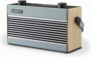 Roberts Rambler Portable DAB+/FM Retro Bluetooth Radio – Blue