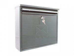 Sterling Elegance Rectangular Postbox French Grey Large