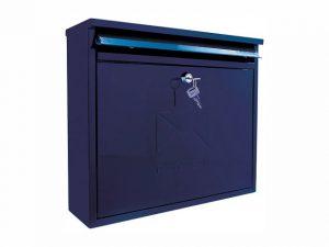 Sterling Elegance Rectangular Postbox Midnight Blue Large