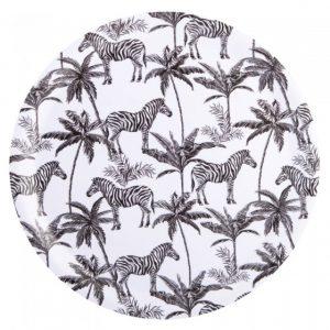 Round Tray Madagascar Zebra