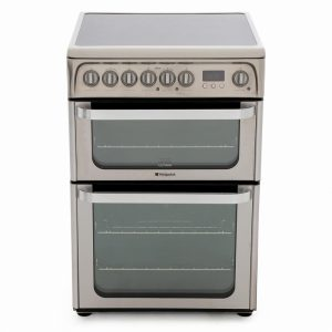 Hotpoint Ultima HUE61XS Electric Cooker with Ceramic Hob