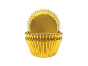 Annivhs Cupcake Cases Gold Foil x 45