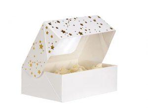 Annivhs 6 Cupcake Box Gold Star