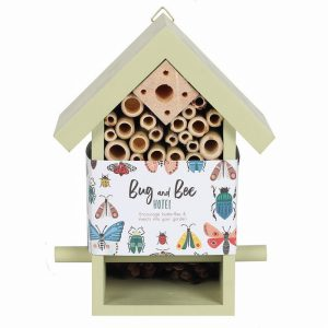 Wooden Bug And Bee Hotel Green