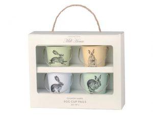 Eddington Egg Cup Pails Country Hare x 4
