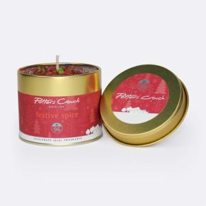 Potters Crouch Candle In A Tin Festive Spice 250g